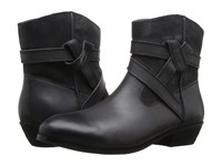 Softwalk Roper Dark Grey Smooth Leather Cow Suede Women's Boots Black