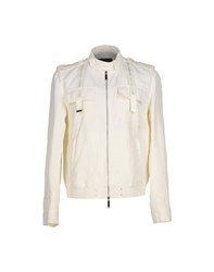 John Richmond Coats And Jackets Jackets Men Ivory