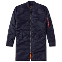 Alpha Industries Ma 1 Vf 59 Long Flight Jacket Blue