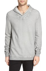 John Varvatos Men's Star Usa Reverse Knit Pullover Hoodie