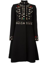 Alexander Mcqueen 'Obsession' Oversized Coat Black