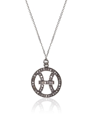 Laura Lee Jewellery Silver Diamond Pisces Necklace
