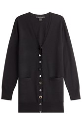 Marc Jacobs Wool Cardigan With Embellished Buttons Black
