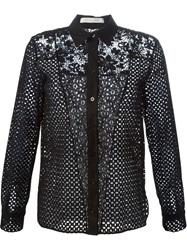 See By Chloe Panelled Broderie Anglaise Shirt Black