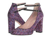 Kate Spade Baneera Purple Glitter Black Nappa Women's Shoes