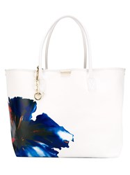 Dsquared2 Contrasted Flower Tote White