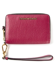 Emporio Armani All Around Zip Wallet Pink And Purple