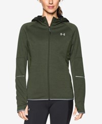 Under Armour Hooded Zip Storm Jacket Downtown Green Action Green