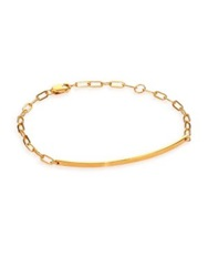 Jennifer Zeuner Jewelry Aviva Bar Chain Bracelet Gold