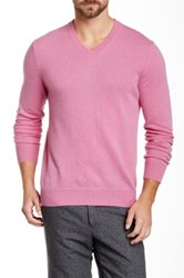 Qi Cashmere V Neck Sweater Pink