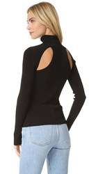 Elizabeth And James Renner Cutout Turtleneck Sweater Black