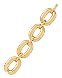 Bold Yellow Gold Large Link Bracelet With Diamond Clasp Roberto Coin Red