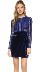 Three Floor La Blue Long Sleeve Dress