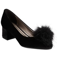 John Lewis Bette Pom Court Shoes Black