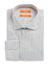 Tallia Orange Patterned Dress Shirt White