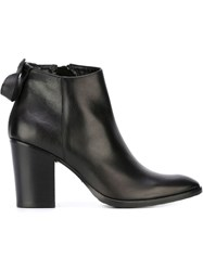Strategia Chunky Heel Ankle Boots Black