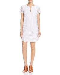 Three Dots Lorraine Eyelet Lace Dress White