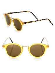 Kyme 46Mm Round Tortoise Sunglasses Honey Brown