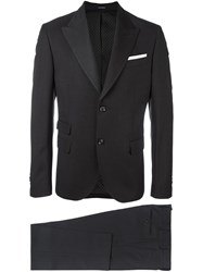 Daniele Alessandrini Fitted Business Suit Grey