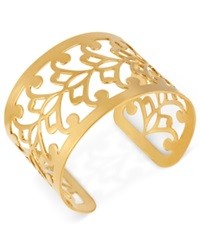 Hint Of Gold 14K Gold Plated Filigree Cuff Bracelet