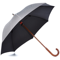 London Undercover Classic Double Layer Umbrella Houndstooth And Black