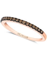 Le Vian Chocolate Diamond Pave Band 1 4 Ct. T.W. In 14K White Or Rose Gold