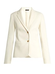 The Row Malchoy Stretch Crepe Blazer Ivory