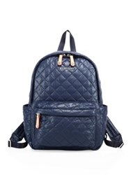 M Z Wallace Oxford Small Metro Quilted Nylon Backpack Navy