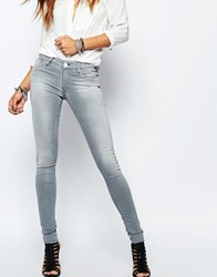 Replay Luz Hyperfree Mid Rise Skinny Jeans Grey