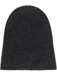 Helmut Lang Cashmere Beanie Grey