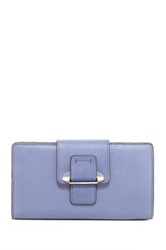 Kooba Tab Leather Wallet Blue