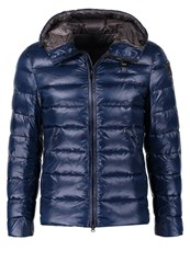 Blauer Down Jacket Blu Mar Baltico Blue