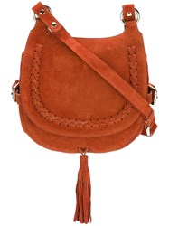 Vanessa Bruno Hobo Crossbody Bag Yellow And Orange