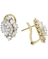 Wrapped In Love Diamond Cluster Earrings 1 Ct. T.W. In 14K Gold Yellow Gold