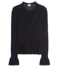 Kenzo Open Knit Top Black