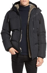 Andrew Marc New York Men's Ascent Down Parka With Removable Faux Fur Liner