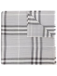 Burberry House Check Scarf Grey