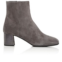 Prada Women's Tapered Toe Ankle Boots Light Grey
