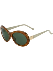 The Row Oversized Round Sunglasses Brown
