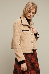 Anthropologie Mother Sherpa Swing Jacket Neutral
