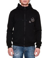 Dolce And Gabbana Horseshoe Full Zip Hoodie Black