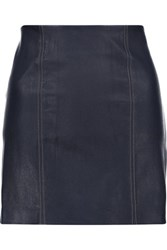 Alexander Wang T By Stretch Leather Mini Skirt Midnight Blue