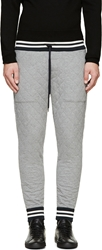 Moncler Grey Quilted Lounge Pants
