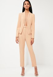Missguided Nude Tailored Skinny Trousers