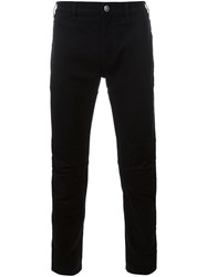 Versace Slim Fit Trousers Black