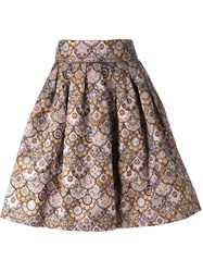 Leo 'Skater' Skirt Metallic