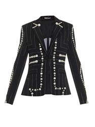 Edun Button Detail Pinstripe Blazer