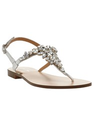 Phase Eight Suri Jewel Sandal Silver Metallic
