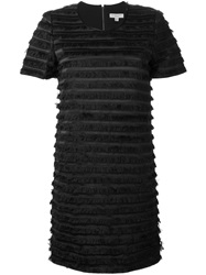 Burberry London Layered Fringe Dress Black