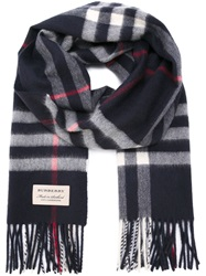 Burberry London Checked Scarf Blue